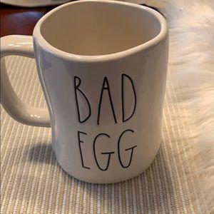 NWOT Rae Dunn 2 Sided Good Egg Bad Egg Mug